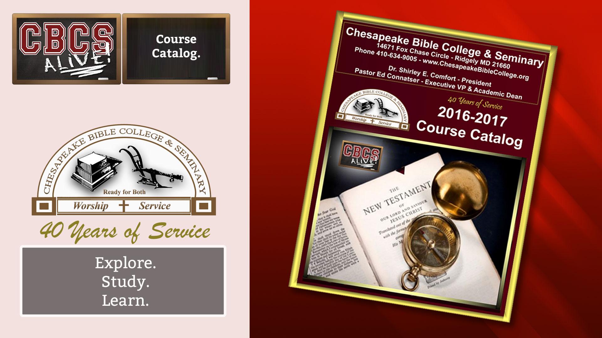 Chesapeake Bible College & Seminary Course Catalog