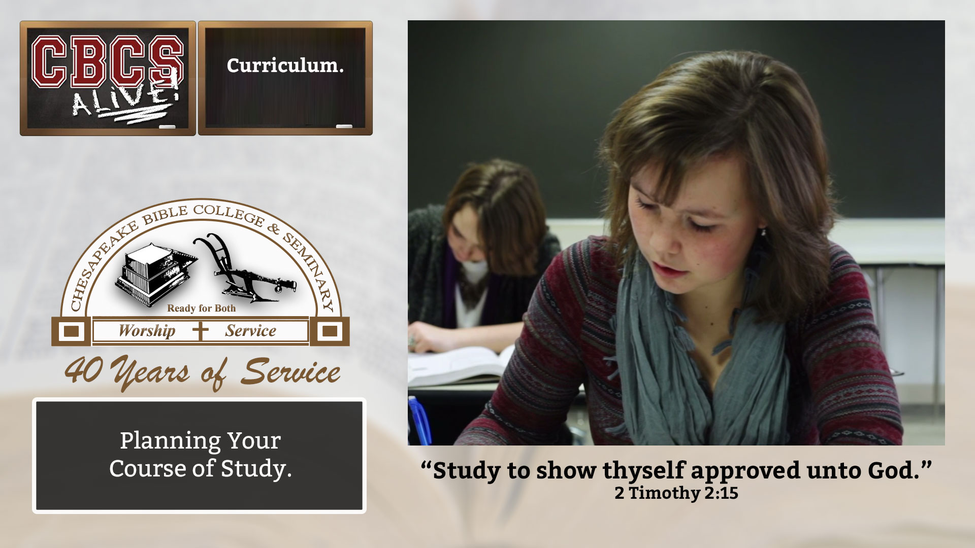 Chesapeake Bible College & Seminary Curriculum
