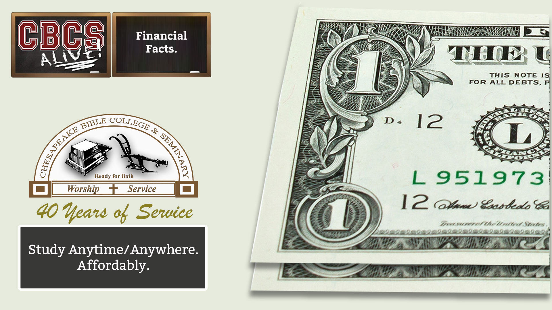 Chesapeake Bible College & Seminary Financial Facts
