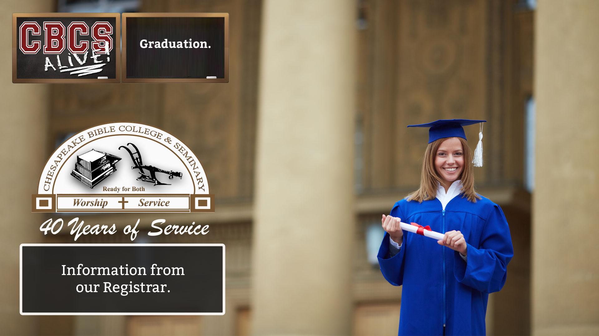 Chesapeake Bible College & Seminary Graduation
