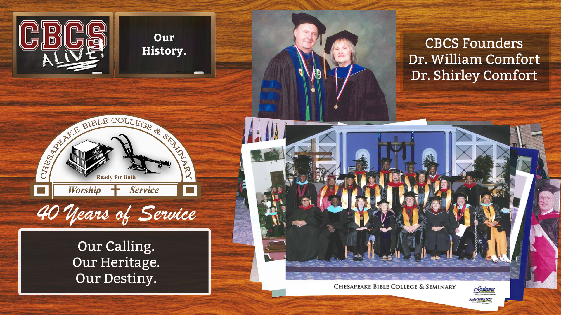 Chesapeake Bible College & Seminary - Out History